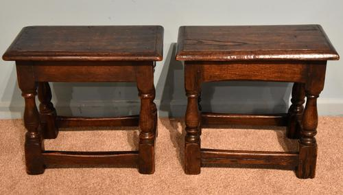 Charles II Style Oak Joint Stools (1 of 7)