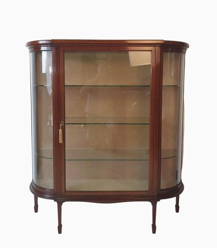 Fine Early 20th Century Inlaid Mahogany Display Cabinet (1 of 7)