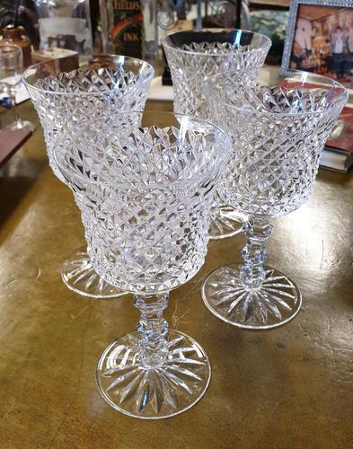 Set of Four Large Waterford Wine Goblets (1 of 8)