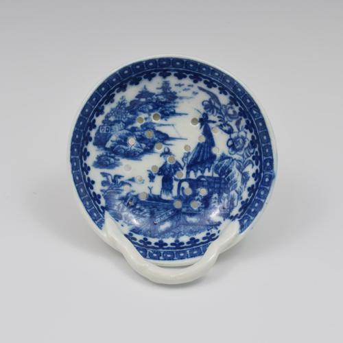 Caughley Porcelain Egg Drainer Fisherman / Pleasure Boat Pattern (1 of 7)