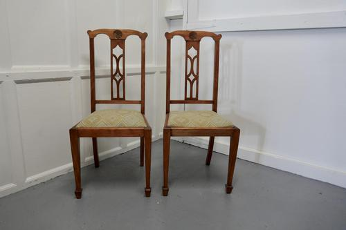 Pair of Arts & Crafts Golden Oak Chairs (1 of 6)