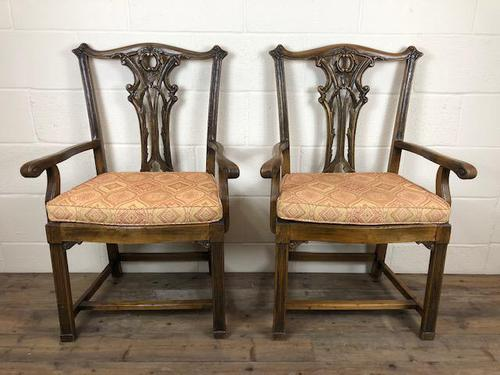 Pair of 19th Century Chippendale Style North Country Armchairs (1 of 10)
