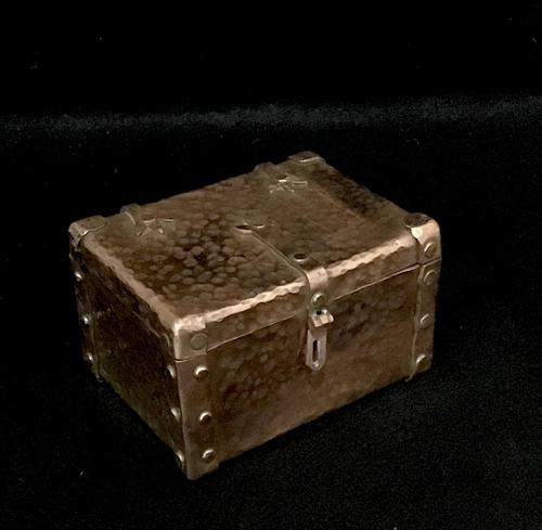 Arts and Crafts Copper Trinket Box (1 of 4)