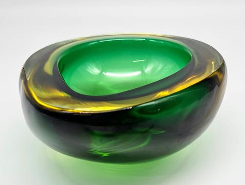 Flavio Poli for Seguso Murano Glass Geode  Sommerso Bowl Ashtray (1 of 4)