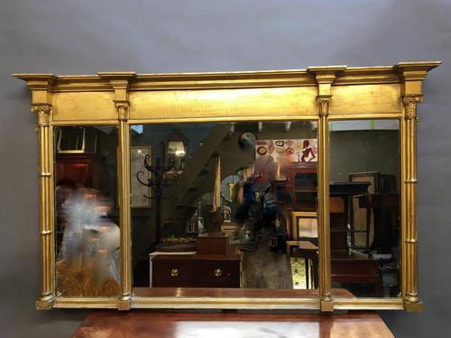 C19th Gilt Overmantel Mirror (1 of 14)