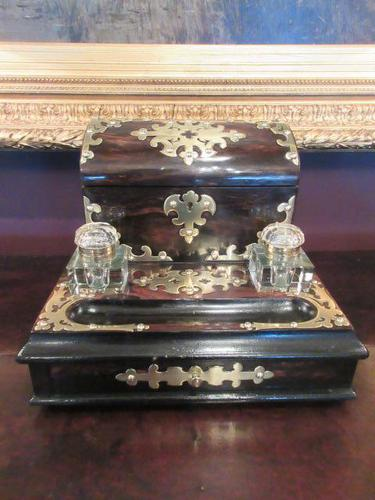 Early Victorian Coromandel Letter & Inkstand (1 of 7)