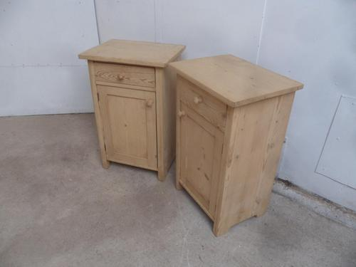 Lovely Pair of Antique Pine Victorian Bedside Cabinets to wax / paint (1 of 8)