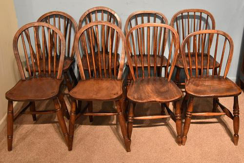 Victorian Ash & Elm Kitchen Dining Chairs (1 of 6)