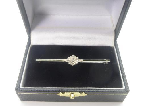 Art Deco 18ct White Gold, Platinum & Diamond Brooch (1 of 7)