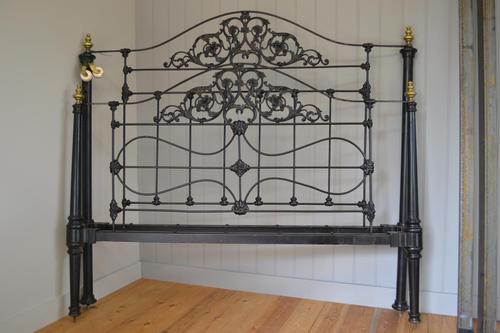 Super Victorian Brass & Iron King Size 5ft Bedstead (1 of 14)