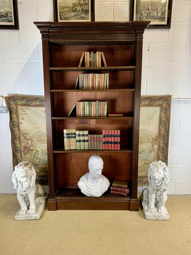 Superb Large 19th Century Mahogany Open Bookcase (1 of 8)