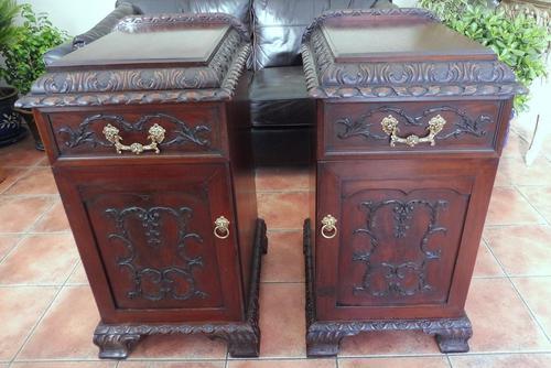 Rare Pair of Mahogany Adams Style Pot Cupboards 1820 (1 of 10)