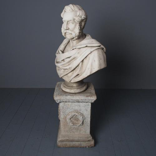 Antique White Marble Bust by John Steell, Rsa (1 of 16)