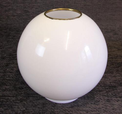 Antique Opaque Oil Lamp Shade / Globe with Brass Ring (1 of 4)