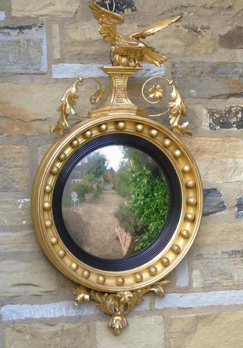 Outstanding Regency Giltwood Mirror With Eagle Crest (1 of 10)