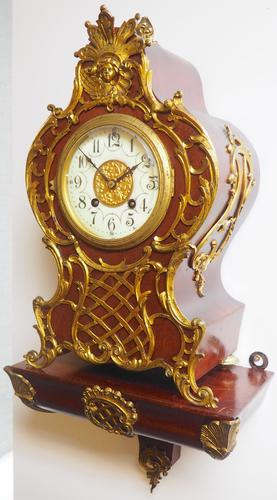 Wow! Phenomenal French Boulle Mantel Clock on Original Bracket 8 Day Mantle Clock (1 of 7)
