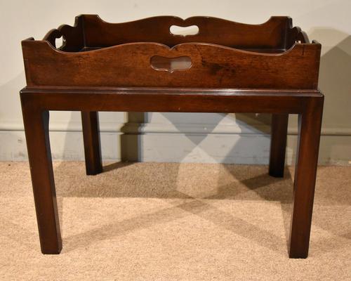 Mid 18th Century Mahogany Tray on Stand (1 of 8)