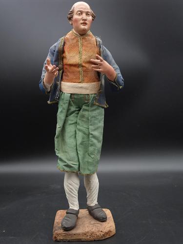 Very Well Modelled & Tall Mid 19th Italian Crib Figure (1 of 5)