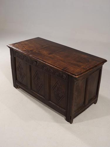 Well Carved Early 18th Century Three Panelled Coffer (1 of 4)