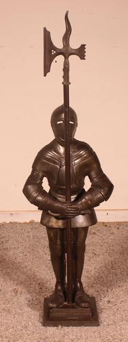 Iron Fireplace Companion Set Representing A Knight (1 of 9)