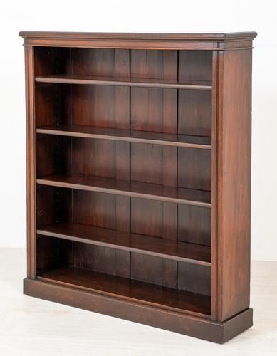 Simple Victorian Mahogany Open Bookcase (1 of 5)