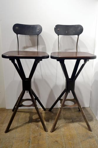 Pair of 1930s Factory Chairs (1 of 6)
