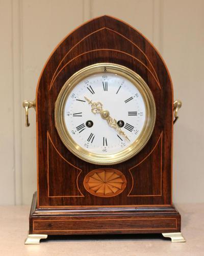 Rosewood Lancet Top Mantel Clock (1 of 15)