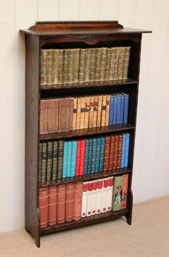 Dark Oak Open Bookcase (1 of 11)
