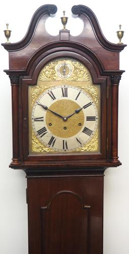 20th Century Solid Musical Mahogany Longcase Clock (1 of 12)