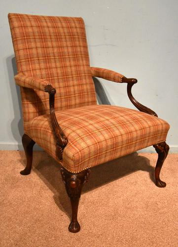 George I Style Walnut Gainsborough Armchair (1 of 8)