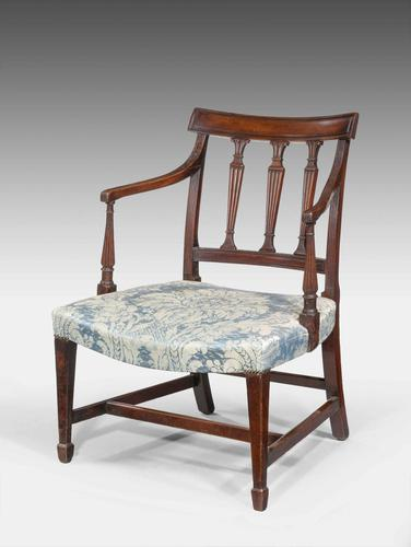 George III Period Mahogany Framed Elbow Chair (1 of 5)