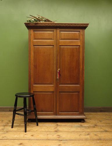 Antique Oak Linen Cupboard, Housekeepers Cupboard Larder with Shelves (1 of 16)