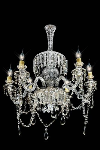 Late 19th Century Six Arm Cut Glass Chandelier (1 of 4)