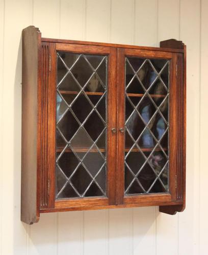 Oak Glazed Wall Cabinet (1 of 9)