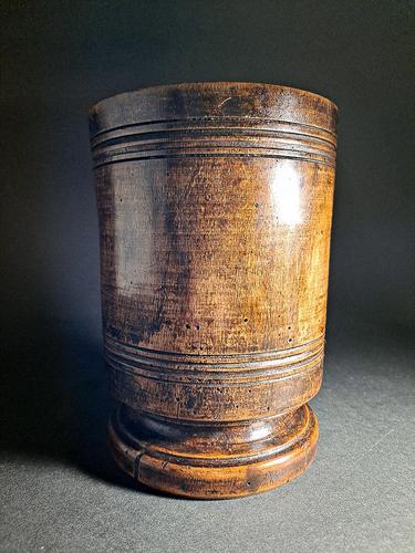 18th Century Walnut Mortar (1 of 5)