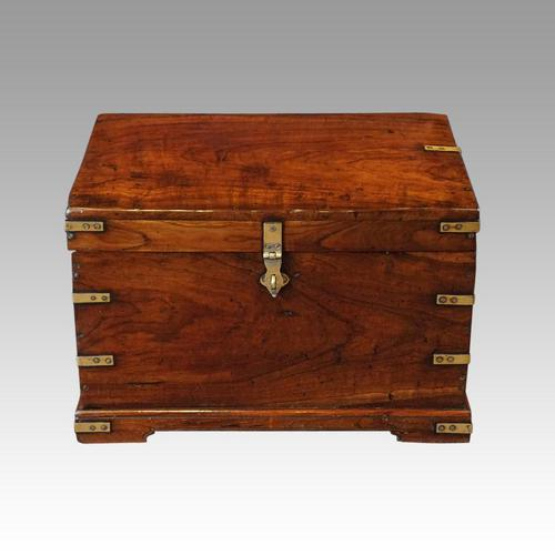 Victorian Small Brass Bound Campaign Chest (1 of 9)