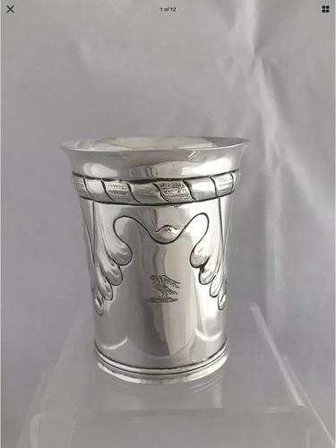 Antique Silver Arts & Crafts Beaker 1903 London, Henry Lambert, Sterling Silver (1 of 12)