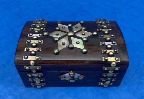 Victorian Brassbound French Rosewood Trinket Box (1 of 11)