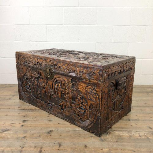 Antique Chinese Camphor Wood Trunk (1 of 14)