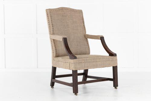 English 18th Century George III Mahogany Gainsborough Chair (1 of 9)