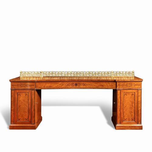 Regency pale mahogany pedestal sideboard (1 of 8)
