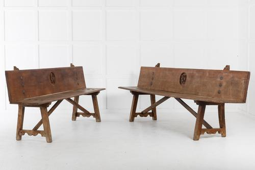 Pair of Early 18th Century Spanish Benches (1 of 10)