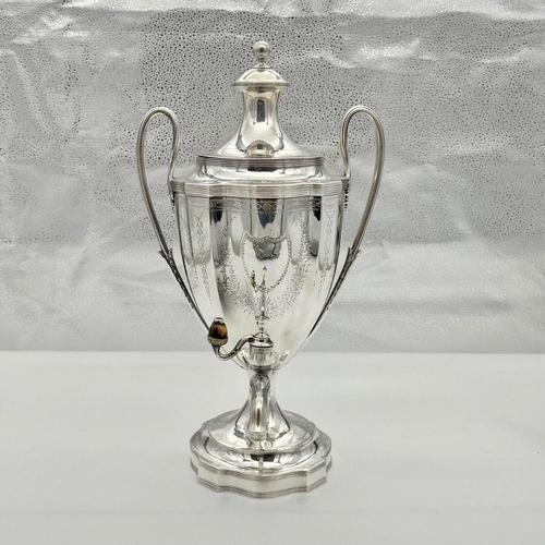 Antique George III Sterling Silver Tea Urn London 1796 Peter & Ann Bateman (1 of 12)