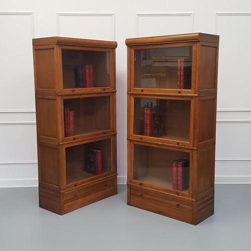 Paris Made Oak Stacking Bookcases / Haberdasheries c.1930 (1 of 7)