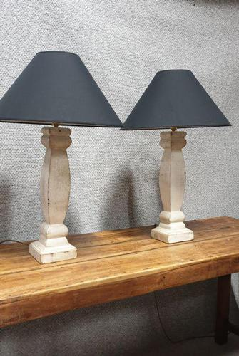 Pair French Painted Table Lamps (1 of 4)
