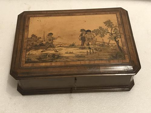 Walnut Pen & Ink with inlays,  Jewels & such Box (1 of 14)