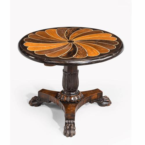 Anglo-Portuguese 19th Century Inlaid Table with Exotic Timbers (1 of 4)