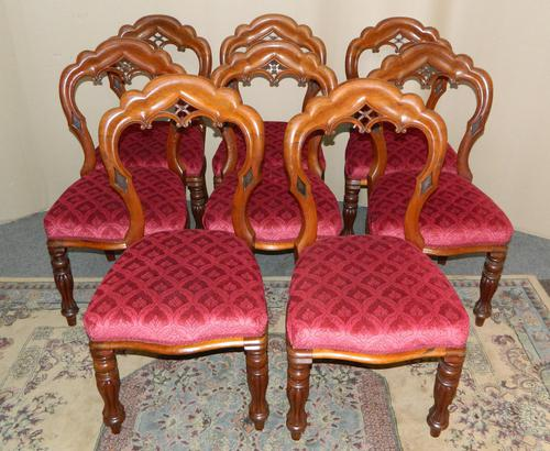 set of 8 mahogany dining chairs (1 of 7)