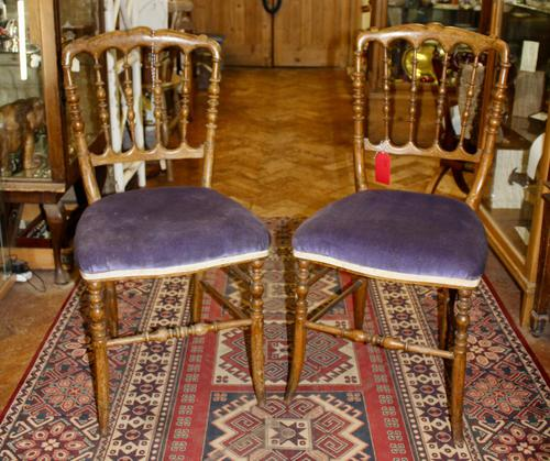 Pair of French Fruitwood Chairs (1 of 4)