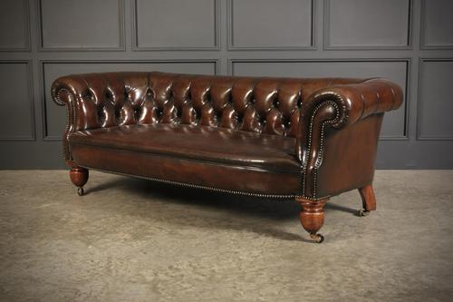 Victorian Hand Dyed Buttoned Leather Chesterfield Sofa (1 of 14)